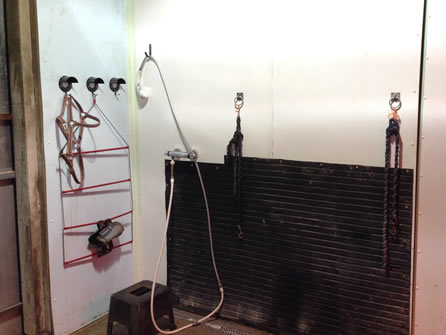 The Shower Room Is Also A Purpose Built Room For Clipping As It Has  Numerous Power Points And Tying Up Rings Complimented By Perfect Lighting.